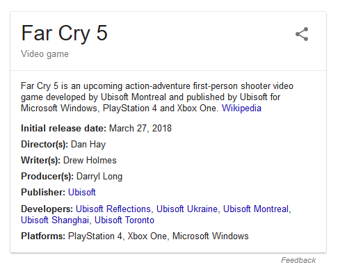 details about far cry 5